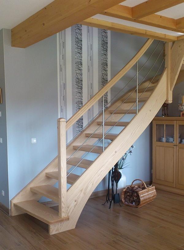 Treppe Mit Setzstufen holztreppen galerie viertel gewendelte treppe ohne setzstufen