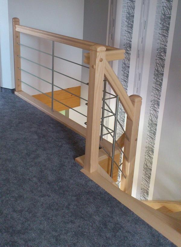 holztreppen galerie viertel gewendelte treppe ohne setzstufen edelstahlquerstreben esche. Black Bedroom Furniture Sets. Home Design Ideas